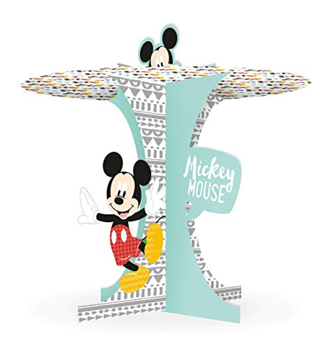 Procos 89008 - Cupcake Ständer, Disney Mickey Maus, Mickey Awesome, Premium, Muffin Ständer, Tortenständer, Geburtstag, Mottoparty