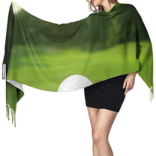 Regan Nehemiah illustratie golfbal op de groene weide sjaal wrap voor meisjes kasjmier Travel sjaal Casual sjaal Large Soft Pashmina extra warm