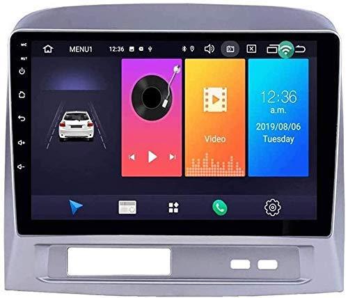 Navegador estéreo para automóvil compatible con Toyota Vios 2003 ~ 2007 Reproductor multimedia resistivo digital con Bluetooth Mirror Link Receptor de radio de respuesta de llamadas FM AM, 4core
