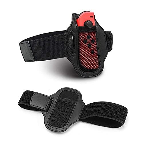 DealMux1 2 piezas de correa de pierna para Switch Joy Con consola pequeña, correa de pierna de movimiento deportivo elástico ajustable para Just Dance, buena compatibilidad