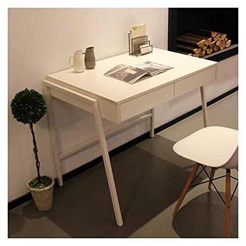 Mesa de Ordenador Sencillo ORDENADOR PERSONAL Escritorio para computadora portátil para pequeños espacios Compacto Tabla de estudio Tabla de estudio Pequeño estudio Tabla de escritura, estructura de m