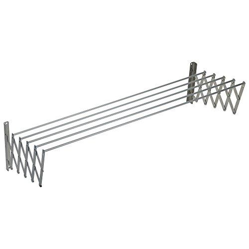 Sauvic Aluminio Tendedero Extensible 130 Cm, 130x78x26.5 cm