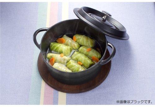 イシガキ産業両手鍋鉄鋳物ボン・ボネールココットガス火IH兼用レッド22cm