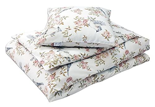 Tyś-ka Ropa de cama English Garden para bebé, diseño de jardín inglés
