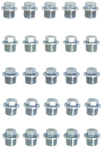 KS tools ölablassschraube außen6kant, 17 mm/m20 x 1,5 x 15 mm, lot de 2, 430.2191