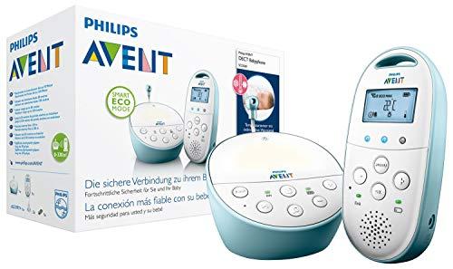 Philips Avent SCD560/00 - Vigilabebés digital con tecnología DECT, LCD, luz nocturna, alcance hasta 330 m