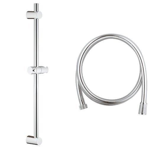 Grohe Vitalio - Barra universal de ducha (60 cm) + VitalioFlex Silver - Flexo BL (175 cm)