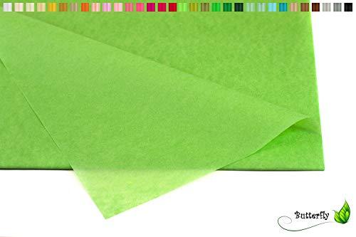 Creativery Seidenpapier - Tissue Papier 50 x 75cm 10 Bögen Gestalten Dekorieren Vepacken bunt Farbe grün 580