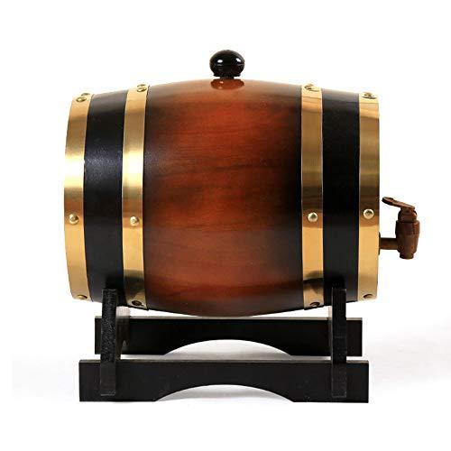 ZXPYZ Roble Barril De Vino - Cerveza, Whisky, Ron Puerto De Barriles De Roble del Vino De Madera Viejos, Roble - Dark Brown 1.5L