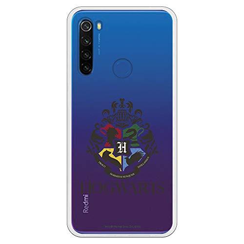 Funda para Xiaomi Redmi Note 8T Oficial de Harry Potter Hogwarts Escudo Transparente para Proteger tu móvil. Carcasa para Xiaomi de Silicona Flexible con Licencia Oficial de Harry Potter.