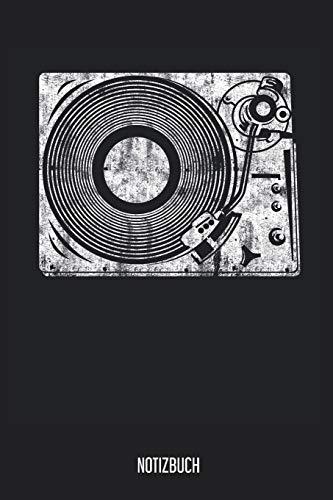 Notizbuch: Vinyl Plattenspieler Notizbuch, Musik Notebook, 120 Seiten liniert, 6x9, eckiger Buchrücken, Notizheft, Notenbuch, Gitarrenbuch, Schreibheft für Noitzen