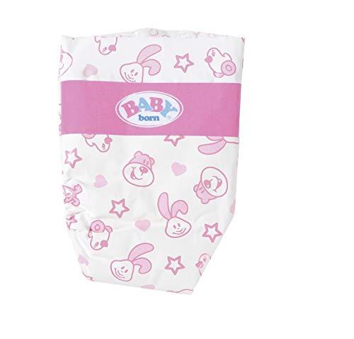 BABY Born 826508 Windeln für 43cm Puppe - Einfach für Kleine Hände, Kreatives Spiel fördert Empathie & Soziale Fähigkeiten, für Kleinkinder ab 3 Jahren - Inklusive 5 Windeln
