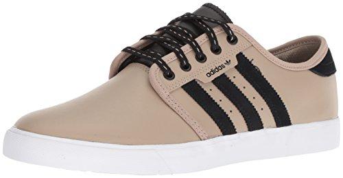 adidas Originals Seeley, Zapatillas para Correr Hombre, Trace Khaki Negro Blanco, 37 1/3 EU