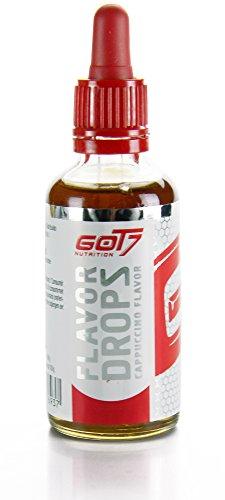 Got7 Flavor Drops New Edition - Aromatropfen – Flavordrops Kalorienfreies Aroma Lebensmittelaroma Diät Fitness 50ml (Cappuccino)