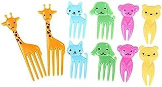 Cartoon Food Fruits Picks Mini Dessert Forks Resin Toothpick Cutlery Set for Kids 10pcs