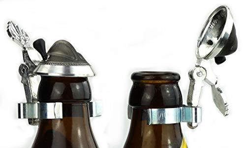 Bierflaschen Zinndeckel Trachtenhut, Flaschendeckel Zinn