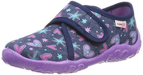 Superfit Bonny, Zapatillas de Estar por casa para Niñas, Azul (Blau 81), 34 EU