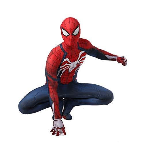 SPIDERMANHTT Bodysuit P34 Spider-Man Adult Cosplay, Print Tights Halloween Film Kostüm Props Kinder und Erwachsene (Color : Adult, Size : XXL)
