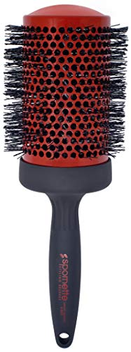 Spornette 3 1/2' Smooth Operator Tourmaline Ionic Bristle Hairbrush (#3377) Ceramic Round Brush With Crimped Tourmaline Ionic Bristles, Styling, Blowouts Smoothing, Root Lift & Waving for Long Hair