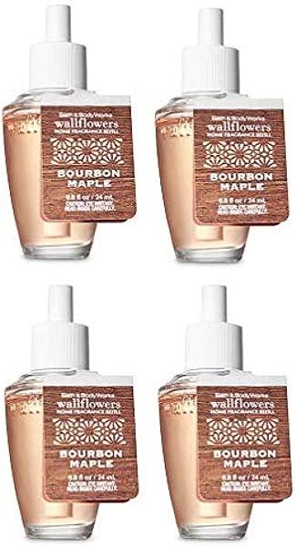 Bath And Body Works 4 Pack Bourbon Maple Wallflowers Fragrances Refill 0 8 Oz