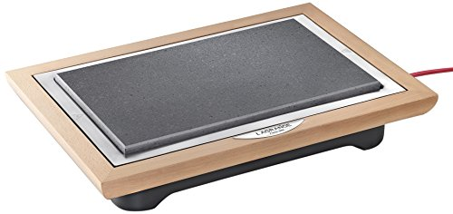 Lagrange 199002 Grill für Fleisch, Stein, 1100 W, Rahmen aus lackiertem Holz