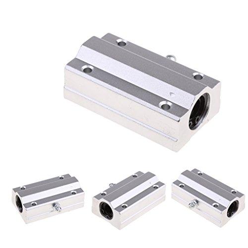 12mm x 21mm x 57mm Quadratischer Flansch Linear kugellager LMK12UU