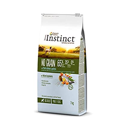 True Instinct No Grain - Nature's Variety - Pienso sin Cereales para Perro Adult Mini con Salmón - 7kg