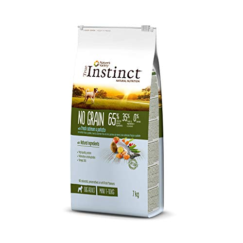 True Instinct No Grain - Nature's Variety - Pienso sin Cereales para Perro Adult Mini con Salmón - 7kg ⭐