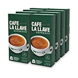 Café La Llave Espresso Capsules, Intensity 11-Recylable Coffee Pods (80 Count) Compatible with Nespresso OriginalLine Machines
