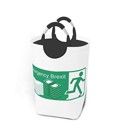 wupinpai Wasserdichtes, schmutziges Kleidungspaket, 50 Liter Speicherkapazität Notfall-Brexit-Fluchtschild mit Griffen Faltbarer, übergroßer Wäschekorbkorb