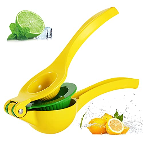Exprimidor de Limón Manual, Sin BPA, minghaoyuan Profesional exprimidor de Limones 3 en 1 Aleación de Aluminio, Exprimidor Anticorrosivo de Cítricos para Limón y Naranjas