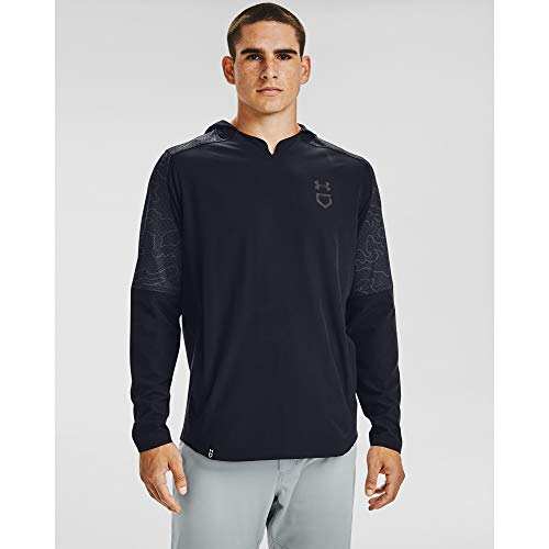 Under Armour Men's Cage Ripthread Hooded Jacket , Black (001)/Steel , XX-Large