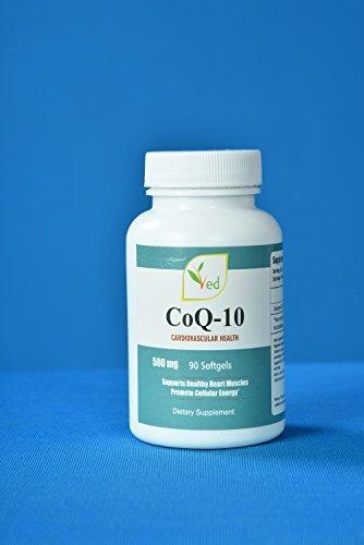 VED Co Enzyme Q10   soutenir un cœur et des muscles sains   promouvoir l'énergie cellulaire   Réduisez les maux de tête   500 mg 90 gélules