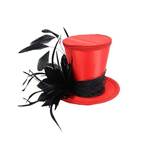 Gazechimp Mujer Fascinator Sombrero de Copa Nupcial Juguetes de Vestido de Lujo Disfraces Prop de Fotografía - Negro