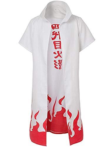 健康ミネラルむぎ茶 Anime Kostüm Cosplay Party Hokage Naruto Cape Umhang Robe Mantel