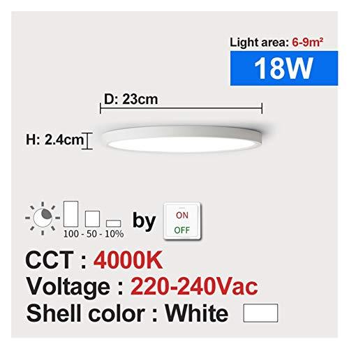 Moderno, Lámpara de techo de montaje en descarga Lámpara de techo LED Dimmable 220V 12W 18W 4000K para la cocina Dormitorio Sala de estar Baño Moderna lámpara de techo para sala de estar, dormitorio,