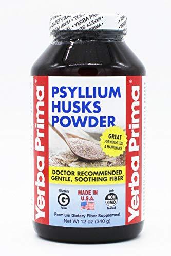 YERBA PRIMA Fiber Powder PSYLLIUM HUSKS, 12 Ounce