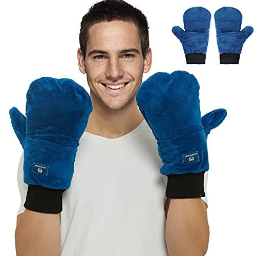 Manoplas calentadas para microondas, reutilizables para terapia de manos frías/calientes, guantes de artritis por calor para terapia...
