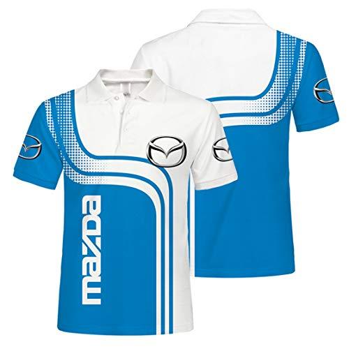 Camisa De Polo para Hombre con Estampado Digital M.a.z.d.a De Manga Corta (1,4XL)