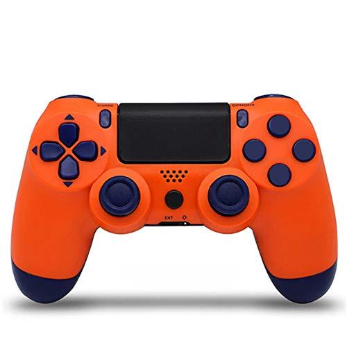 SYCYXFYT Mando inalámbrico para PS4 Remote para Playstation 4 con Cable de Carga y Doble Descarga,Naranja