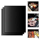 YIHGJJYP 3pcs Non-Stick BBQ Grill Mat Barbecue Grill Pads Kochen Backen Platzdeckchen Mesh-Küchenzubehör Reusable Roaster Werkzeuge