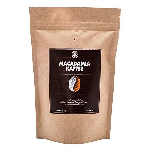 Henry´s Macadamia Kaffee 250g - unser Gourmet Kaffee mit feinsten Aromen verfeinert - handwerkliche Röstung - Premium Kaffeebohnen
