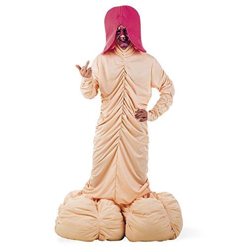 Énorme Pénis XL Fun Costume pour Hommes pour Enterrement de Vie de Garçon Gag de Fête 4 Pièces - XL