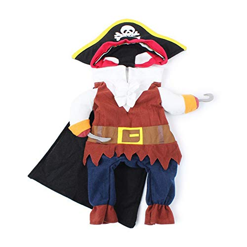 HXHON - Costume da Pirata per Cani e Gatti, Divertente, per Feste di Halloween e Cosplay