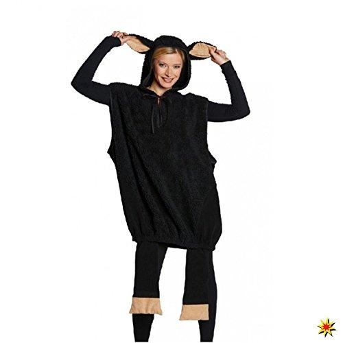 Schwarzes Schaf Unisex Kostüm für Erwachsene (Large)