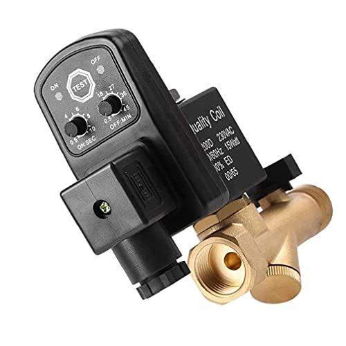 Válvula electrónica automática de drenaje cronometrado 1/2 pulgada Tanque de aire Válvula de drenaje de agua