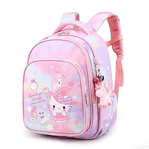 Tylyund cartella Sanrio Hello Kitty Borsa Da Scuola Per Bambini Borsa Da Bambina Zaino Da Cartone Animato