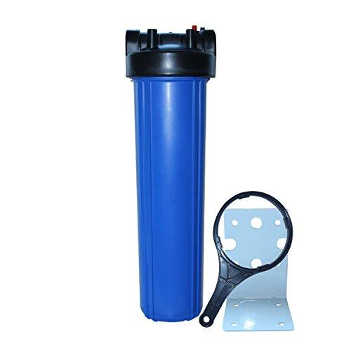 """Big Blue 20"""" 1 1/2""""IG Filtergehäuse mit Filterschlüssel und Wandhalter - Wasserfilter - Vorfilter - Hauswasserfilter - Filterpatrone"""