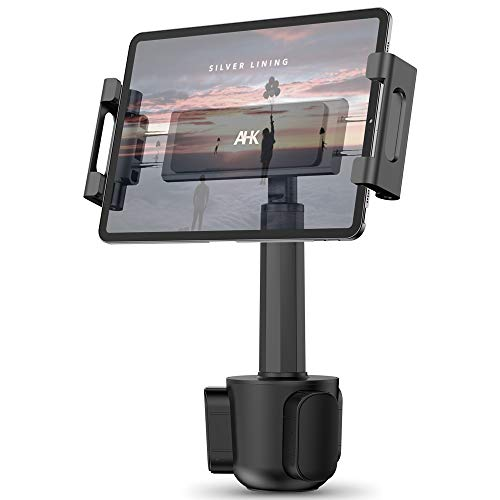 """Car Cup Holder Tablet Mount, AHK Universal Tablet & Smartphone Car Cradle Holder for iPad Pro/Air/Mini, Kindle,Tablets Nintendo Switch Smartphones, Compatible with 4.7"""" to 12.9"""" Devices"""