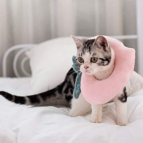 gszfsm001 - Collar electrónico para gato, aguacate, miconmelocotón, cicatrización de heridas protectoras después de la recuperación quirúrgica, collares Soft Edge para gato y gato (pesca, S)